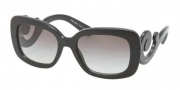 Prada PR 27OS Sunglasses Sunglasses - 1AB3M1 Black / Gray Gradient