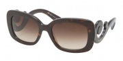Prada PR 27OS Sunglasses Sunglasses - 2AU6S1 Havana / Brown Gradient