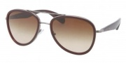 Prada PR 51PS Sunglasses Sunglasses - 5AV6S1 Gunmetal / Brown Gradient