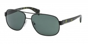 Prada PR 52PS Sunglasses Sunglasses - 1B0301 Matte Black / Gray Green