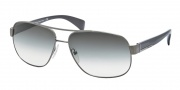 Prada PR 52PS Sunglasses Sunglasses - 75S1E0 Brushed Gunmetal / Green Gradient