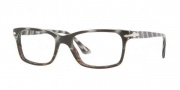 Persol PO 3030V Eyeglasses Eyeglasses - 965 Dark Horn Striped White / Demo Lens