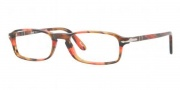 Persol PO 3035V Eyeglasses Eyeglasses - 975 Brown Striped Red / Demo Lens