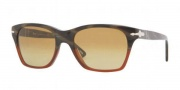 Persol PO 3027S Sunglasses Sunglasses - 953/85 Dark Horn / Red Crystal Brown Photo