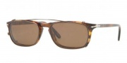 Persol PO 3031S Sunglasses Sunglasses - 108 Light Havana / Demo Lens