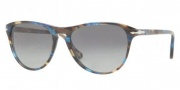 Persol PO 3038S Sunglasses Sunglasses - 973/71  Brown Spotted / Blue Brown Gradient Grey 