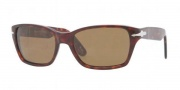 Persol PO 3040S Sunglasses Sunglasses - 24/57 Havana Crystal / Brown Polarizied 