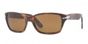 Persol PO 3040S Sunglasses Sunglasses - 108/33 Light Havana / Crystal Brown