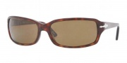Persol PO 3041S Sunglasses  Sunglasses - 24/57 Havana Crystal / Brown Polarized
