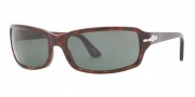 Persol PO 3041S Sunglasses  Sunglasses - 24/31 Havana / Crystal Green