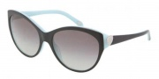 Tiffany & Co. TF4065B Sunglasses Sunglasses - 80553C Top Black / Blue Gray Gradient