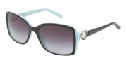Tiffany & Co. TF4066 Sunglasses Sunglasses - 80553C Top Black On Azure / Gray Gradient