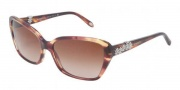 Tiffany & Co. TF4069B Sunglasses Sunglasses - 80813B Spotted Violet / Brown Gradient 