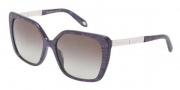 Tiffany & Co. TF4074B Sunglasses Sunglasses - 81483M Striped Violet / Green Gradient 