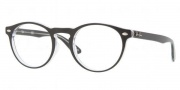 Ray Ban RX5283 Eyeglasses Eyeglasses - 2034 Top Black On Transparent