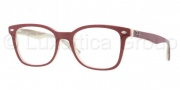 Ray Ban RX5285 Eyeglasses Eyeglasses - 5152 Top Red On Beige Horn