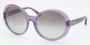 Coach HC8046F Sunglasses Sunglasses - 509711 Transparent Purple / Grey Gradient