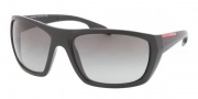 Prada Sport PS 01OS Sunglasses Sunglasses - FAD3M1 Matte Black / Gray Gradient