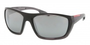 Prada Sport PS 01OS Sunglasses Sunglasses - jAN7W1 Smoke Sand Gradient / Gray Mirror Silver