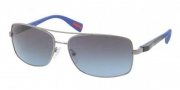 Prada Sport PS 50OS Sunglasses Sunglasses - 5AV5I1 Gunmetal / Grey Blue Gradient