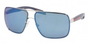 Prada Sport PS 53OS Sunglasses  Sunglasses - 1BC9P1 Silver / Mirror Blue
