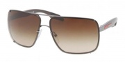 Prada Sport PS 53OS Sunglasses  Sunglasses - 5AV6S1 Gunmetal / Brown Gradient