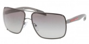 Prada Sport PS 53OS Sunglasses  Sunglasses - 7CQ3M1 Gunmetal Demi Shiny / Gray Gradient