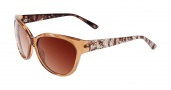 Bebe BB 7079 Sunglasses Sunglasses - Topaz Crystal / Brown Gradient Lenses