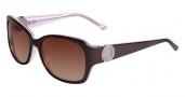 Bebe BB7076 Sunglasses Sunglasses - Brown Rose / Brown Gradient Lenses