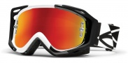 Smith Optics Fuel V.2 Sweat-X M Moto Goggles Goggles - White - Black Offset / Red Mirror