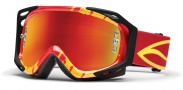 Smith Optics Fuel V.2 Sweat-X M Moto Goggles Goggles - Red - Yellow Slasher / Red Mirror