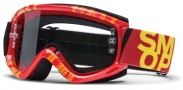 Smith Optics Fuel V.1 Max Moto Goggles Goggles - Red - Yellow Strobe / Clear AFC