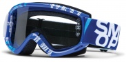 Smith Optics Fuel V.1 Max Moto Goggles Goggles - Blue - White Strobe / Clear AFC