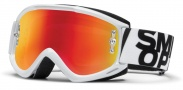 Smith Optics Fuel V.1 Max M Moto Goggles Goggles - Gloss White / Red Mirror