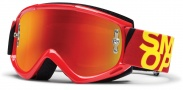 Smith Optics Fuel V.1 Max M Moto Goggles Goggles - Gloss Red / Red Mirror