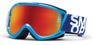 Smith Optics Fuel V.1 Max M Moto Goggles Goggles - Gloss Cyan / Red Mirror