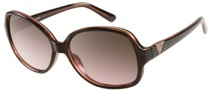 Guess GU 7160 Sunglasses Sunglasses - BRN-62: Dark Brown