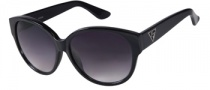 Guess GU 7221 Sunglasses Sunglasses - BLK-35: Black Brown