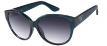 Guess GU 7221 Sunglasses Sunglasses - TL-35: Teal Crystal