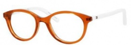 Tommy Hilfiger 1144 Eyeglasses Eyeglasses - 0H9E Transparent Brown / White