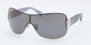 Coach HC7010 Sunglasses Sunglasses - 906081 Silver / Blue Polar Gray