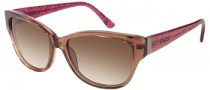 Candies COS Riley Sunglasses Sunglasses - BRN-34: Transparent Brown