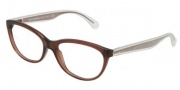 Dolce & Gabbana DG3141 Eyeglasses Eyeglasses - 2542 Transparent Brown / Demo Lens
