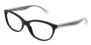 Dolce & Gabbana DG3141 Eyeglasses Eyeglasses - 501 Black / Demo Lens