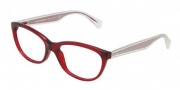 Dolce & Gabbana DG3141 Eyeglasses Eyeglasses - 550 Transparent Red / Demo Lens