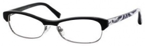Jimmy Choo 44 Eyeglasses Eyeglasses - Black Ruthenium Zebra