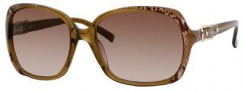 Jimmy Choo Lela/S Sunglasses Sunglasses - Gold Snake Brown