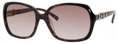 Jimmy Choo Lela/S Sunglasses Sunglasses - Havana Black
