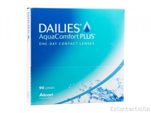 Dailies AquaComfort Plus Contact Lenses 90 Pack - Focus
