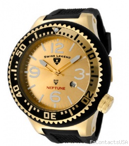 Swiss Legend Neptune Pilot Yellow IP Watch 21818 - Swiss Legend